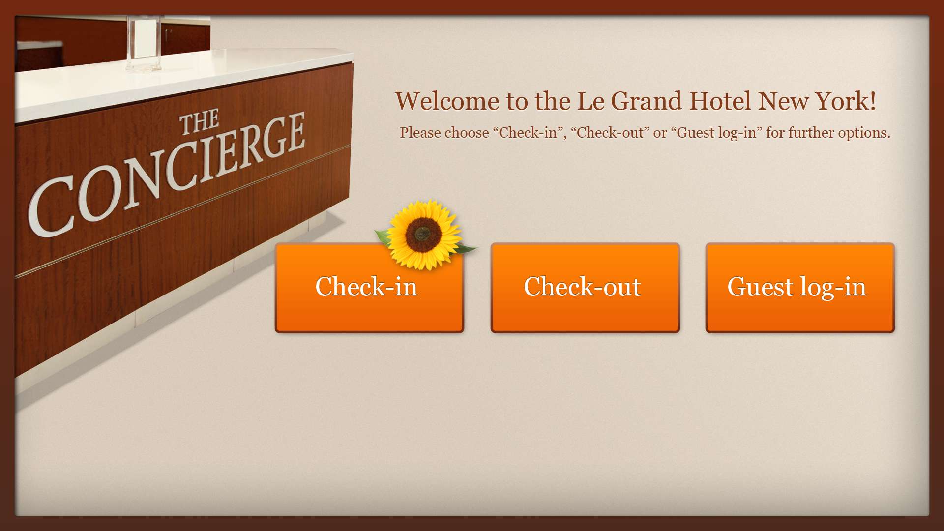 Concierge-App - Welcome
