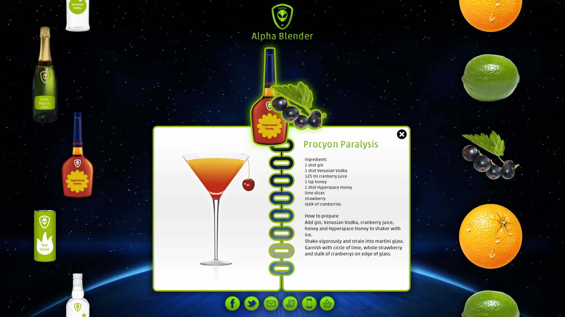 Alpha Alien Drinks App - The Blender