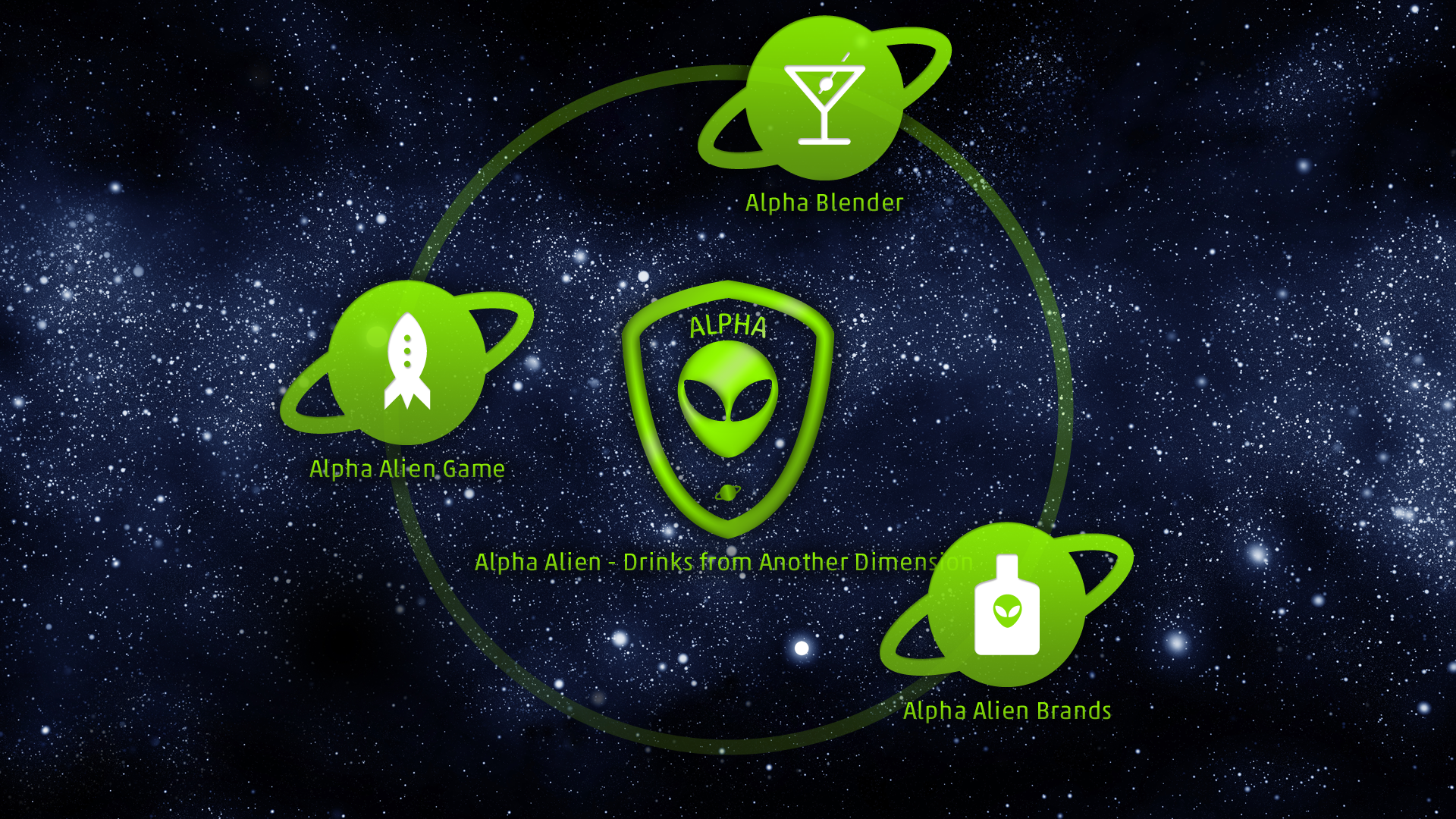 Alpha Alien Drinks App - Startpage
