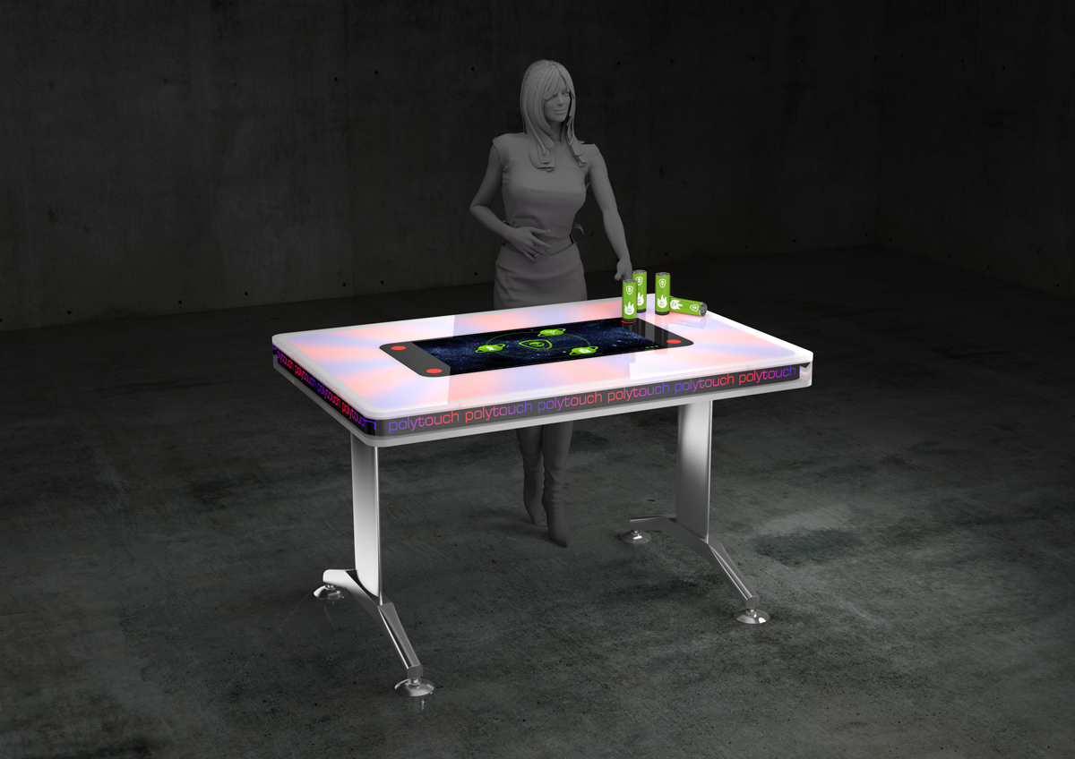 Alpha Alien Drinks on the polytouch LED Table